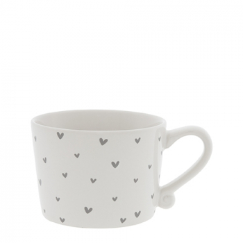 Bastion Collections Tasse / Herzen grau / Allover - Print