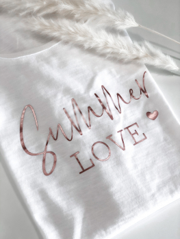 Oversized T-Shirt / Summer LOVE / weiss - HANDMADE - Tanja Graupner