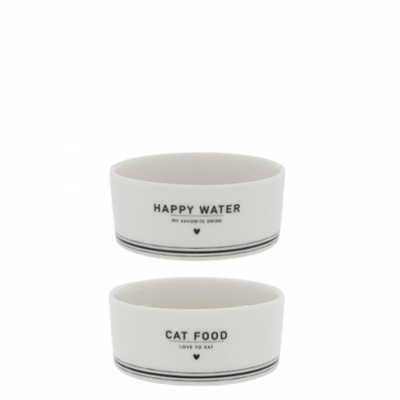 Bastion Collections Schale / CAT FOOD & HAPPY WATER / Set