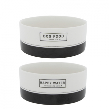 Bastion Collections Schale / DOG FOOD & HAPPY WATER / Set