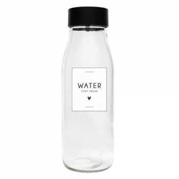 Bastion Collections Glasflasche / WATER - STAY FRESH